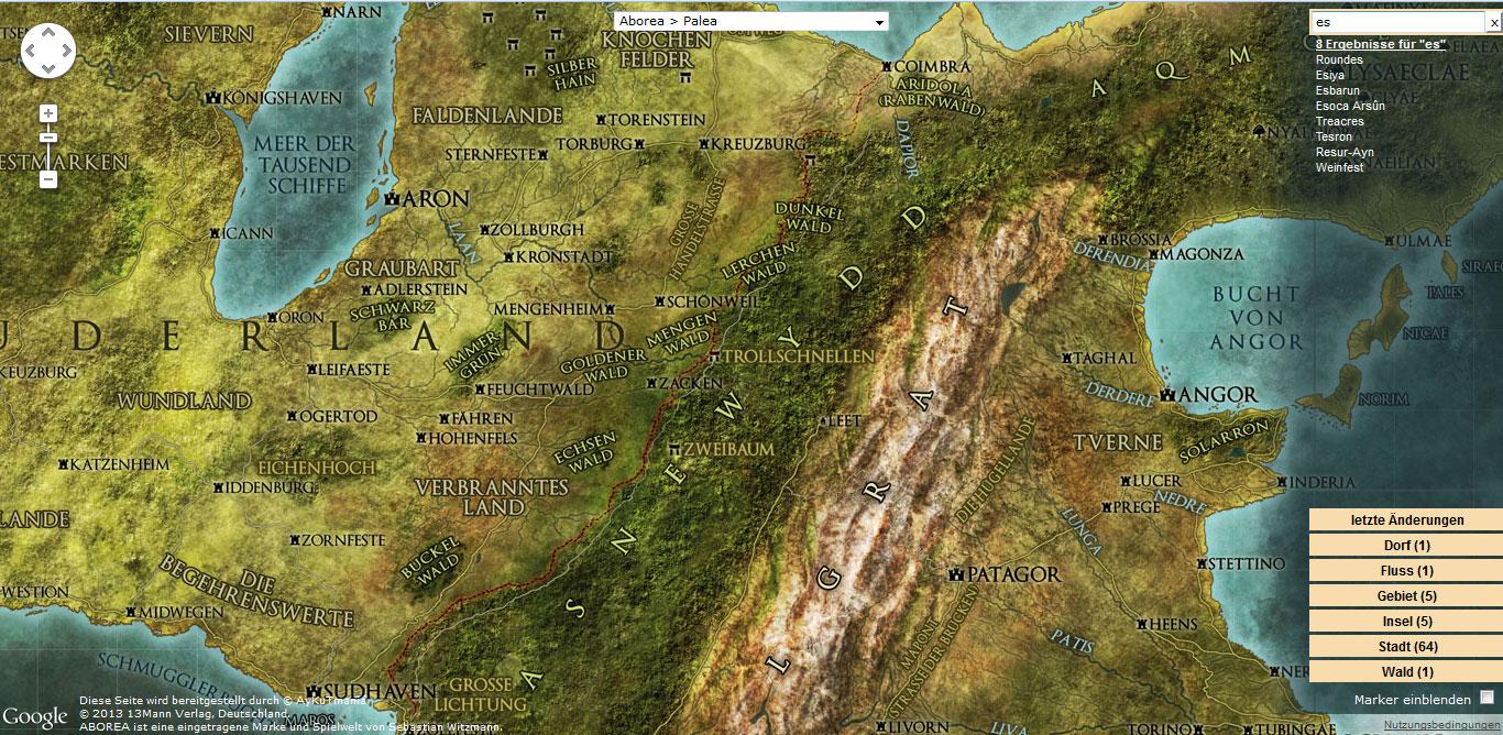Mittelerde Karte Komplett.Karte Von Aborea Welt Aborea Forum